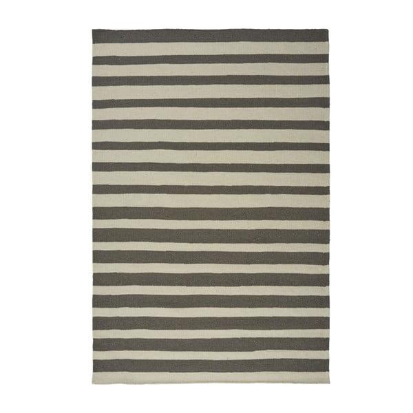 Sivý ručne tkaný vlnený koberec Toya, 200x300cm