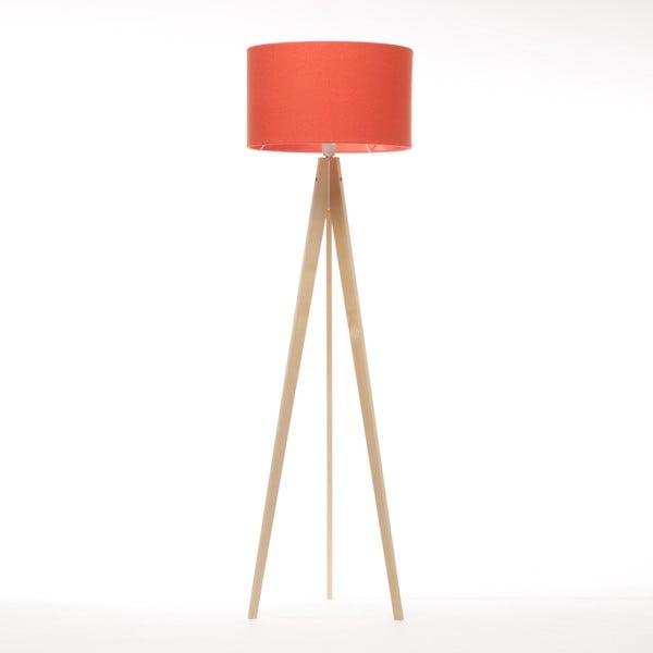 Stojacia lampa Artist Red Felt/Natural, 125x42 cm