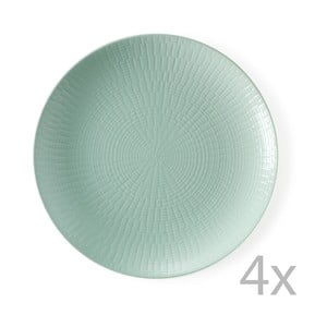 Sada 4 dezertných tanierov Granaglie Eau, 21 cm