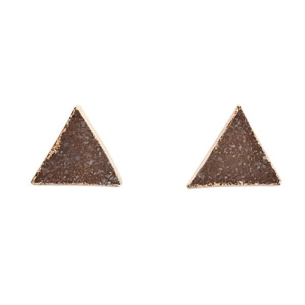 Náušnice z prírodných ametystových trojuholníkov Decadorn