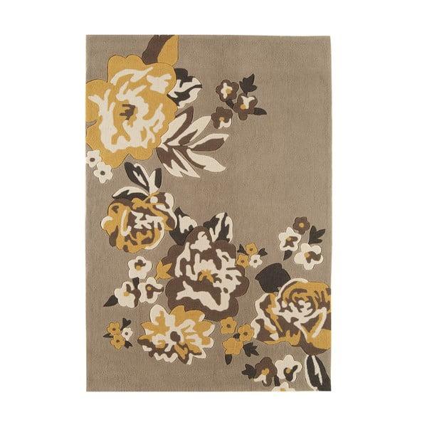 Koberec Harlequin Flora Brown, 120x170 cm