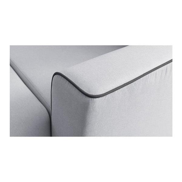 Sivá rozkladacia pohovka Bobochic Paris Mola L, ľavý roh