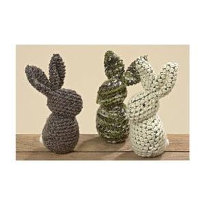 Sada 3 dekoratívnych králikov