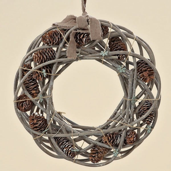 Dekoratívny veniec Cones, 35 cm