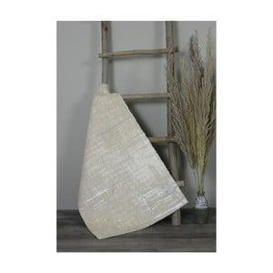 Krémová bavlnená kúpeľnová predložka My Home Plus Sensation, 60×100 cm
