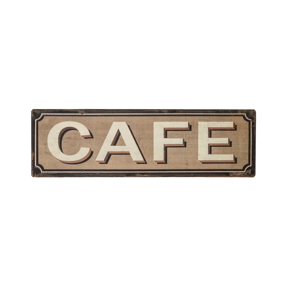 Plechová ceduľa Antic Line Cafe