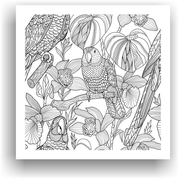 Obraz na vymaľovanie Color It no. 32, 50x50 cm