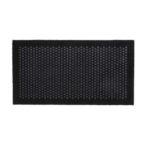 Čierno-sivá rohožka Tica Copenhagen Dot, 67 x 120 cm