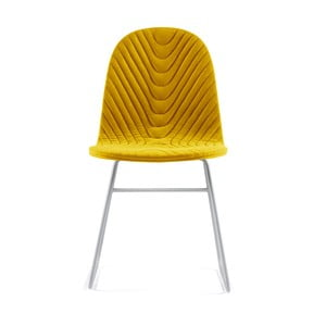 Žltá stolička s kovovými nohami IKER Mannequin V Wave