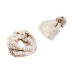 Sada čiapky a šálu Anne Beige