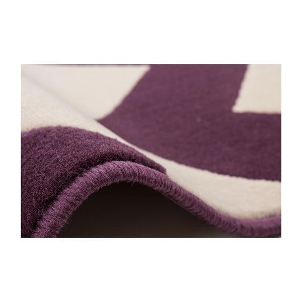 Fialovo-biely koberec Kayoom Maroc, 160x230cm