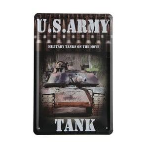 Ceduľa US Army Tank, 15x21 cm