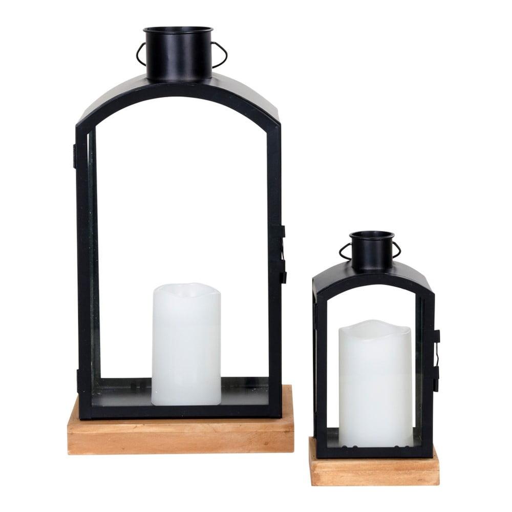 Sada 2 čiernych lampášov House Nordic Botin