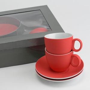 Sada 6 šálok s tanierikmi Coffee