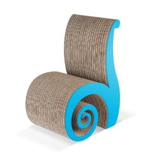 Detská kartónová stolička Chiocciolina Blue