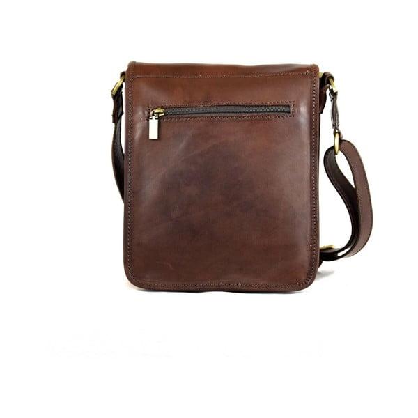 Kožená taška Santo Croce 8803 Dark Brown