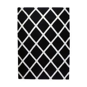 Vlnený koberec Geometry Linie Black & White, 160x230 cm