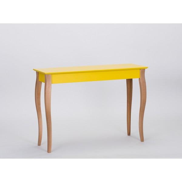 Žltý odkladací stolík Ragaba Console,dĺžka105cm