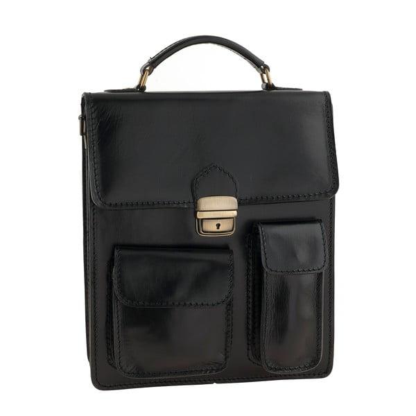 Kožená taška Ore Diece Urbino, čierna