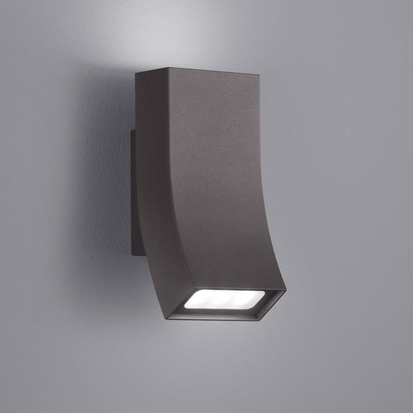 Záhradné nástenné svetlo Oka Antracit, 17 cm