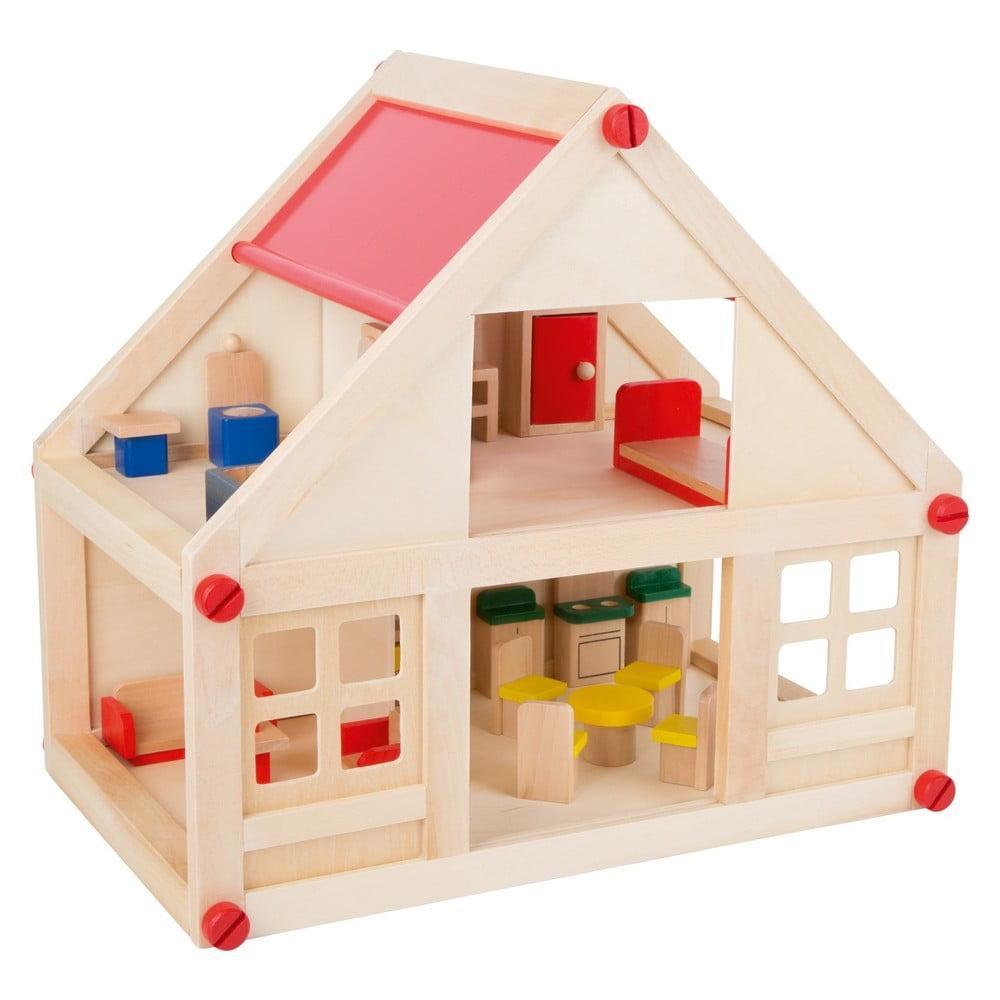 Drevený skladací domček pre bábiky Legler Building
