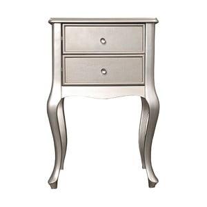 Odkladací stolík Grace Silver, 46x33x70 cm