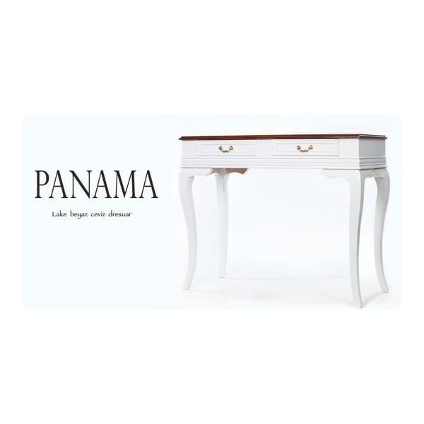 Konzolový stolík Panama Walnut, 100x42x82 cm