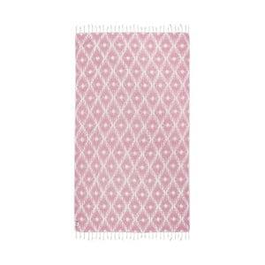 Ružová hammam osuška Kate Louise Calypso, 165x100cm