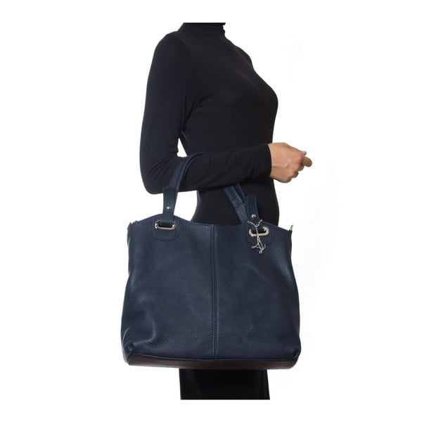 Kožená kabelka Luisa Vannini 1103 Blu