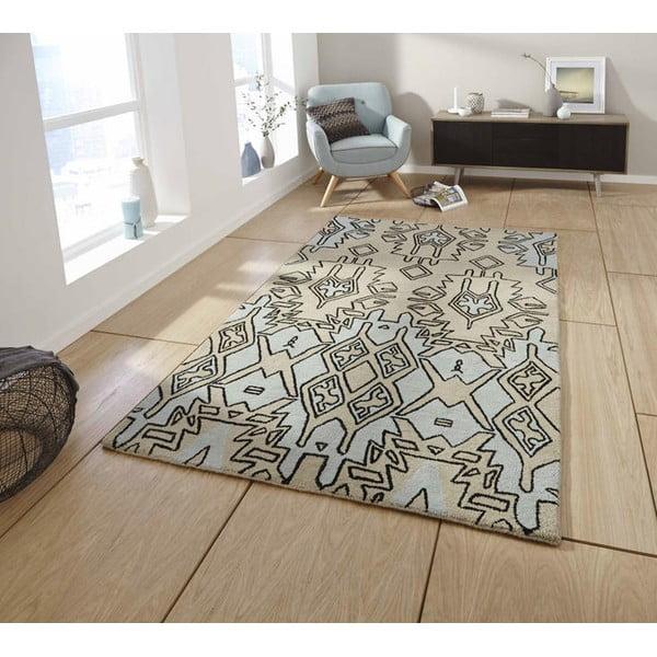 Béžovo-modrý ručne tkaný koberec Think Rugs Spectrum Beige Blue, 120 x 170 cm