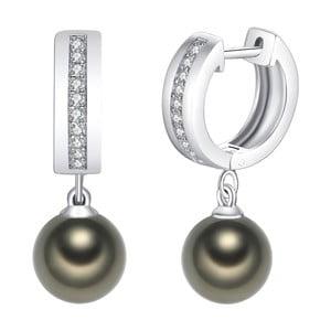 Svetlozelené perlové náušnice Pearls of London Boreás