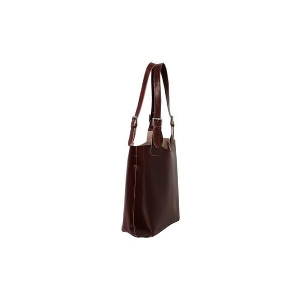 Hnedá kabelka z pravej kože Andrea Cardone Stefano