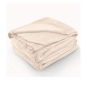 Krémová deka z mikrovlákna AmeliaHome Tyler, 170 × 200 cm