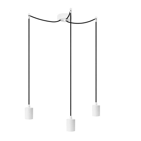 Tri závesné káble Cero, biela/čierna/biela