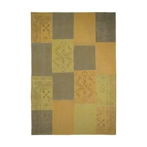 Horčicovohnedý ručne tkaný koberec Kayoom Emotion, 120 x 170 cm