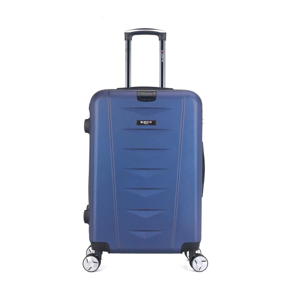 Modrý cestovný kufor na kolieskach Bluestar Durito, 64 l
