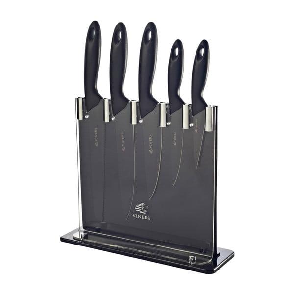 Sada 6 nožov so stojanom Silhouette