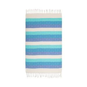 Hammam osuška Waves Blue, 105x175 cm