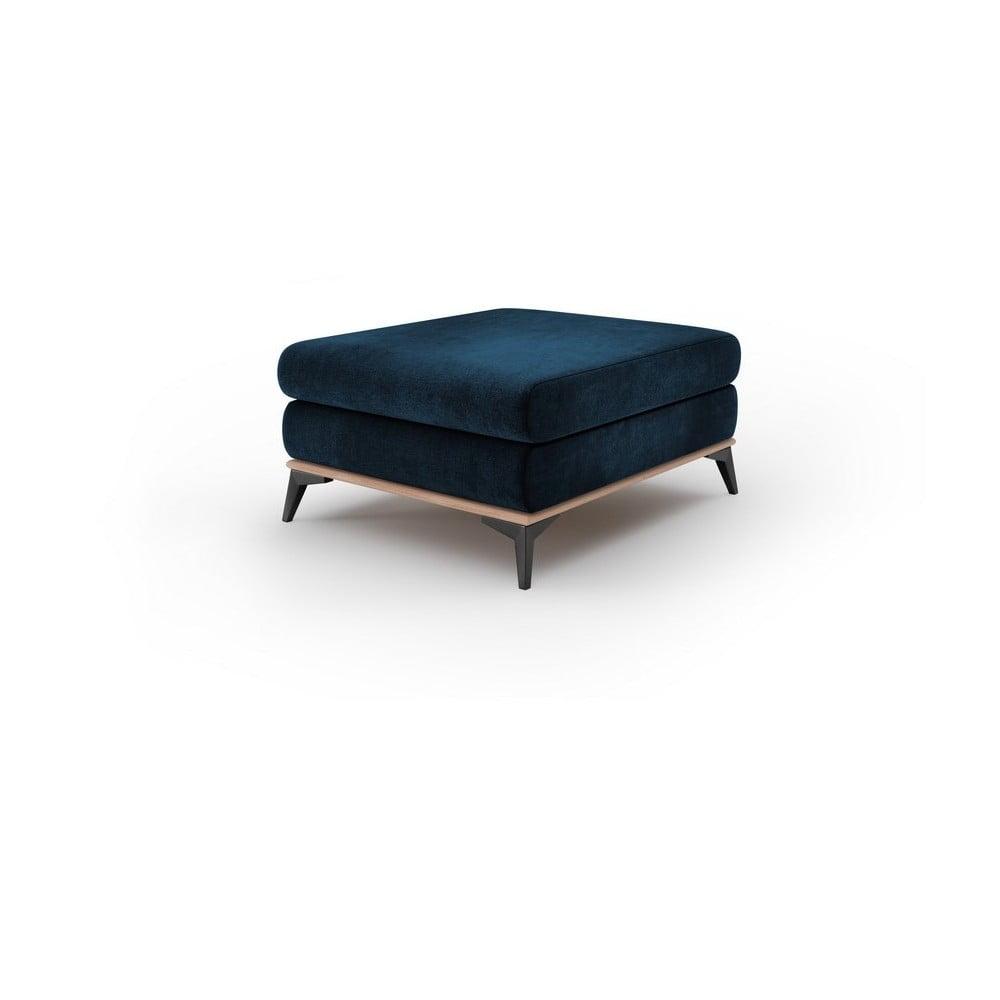 Kráľovskymodrý puf so zamatovým poťahom Windsor & Co Sofas Astre