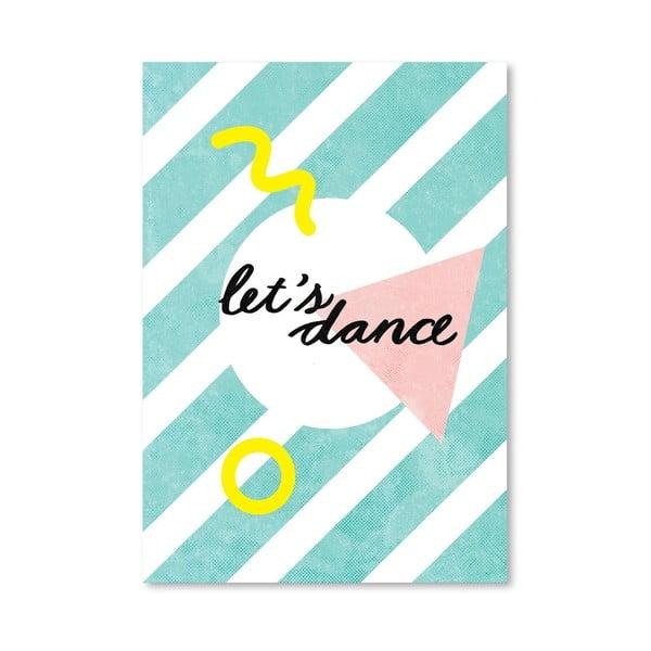 Plagát Lets Dance, 30x42 cm