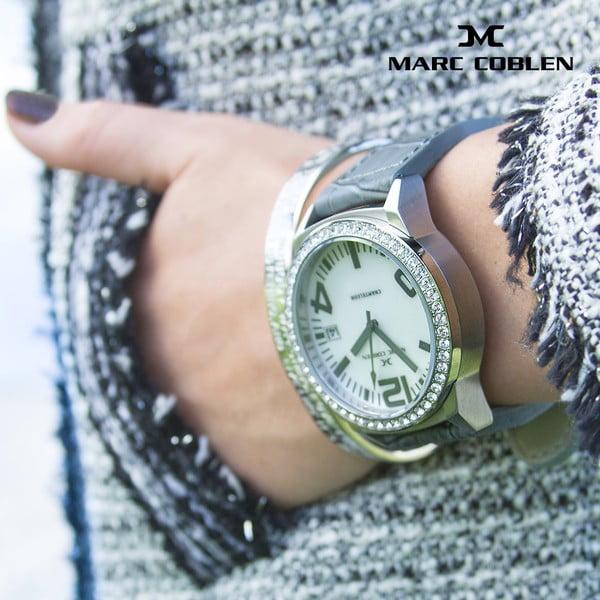 Unisex hodinky Marc Coblen s remienkom a ozdobou ciferníku naviacP15