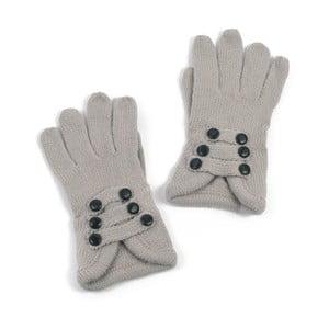 Svetlosivé dámske rukavice Art of Polo Pamela