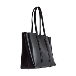 Čierna kožená kabelka Chicca Borse Richie