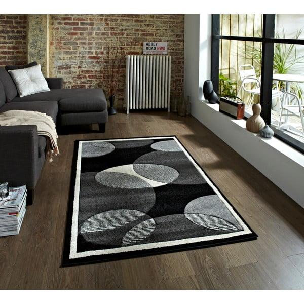 Sivý koberec Think Rugs Art Twist Grey, 80x150cm