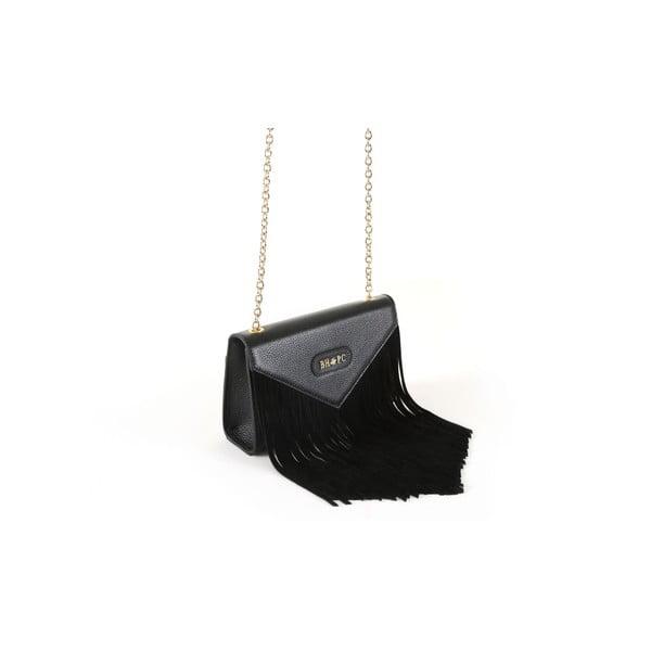 Čierna kabelka z eko kožeBeverly Hills Polo Club Bella