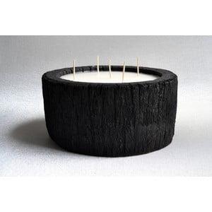 Palmová sviečka Legno Palm s vôňou vanilky a pačuli, 140 hodín horenia