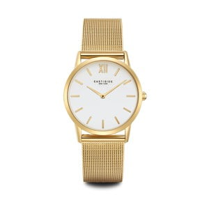 Dámske hodinky v zlatej farbe s bielym ciferníkom Eastside Upper Union