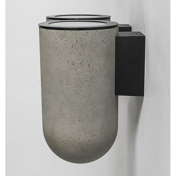 Nástenná lampa PEI, betónová