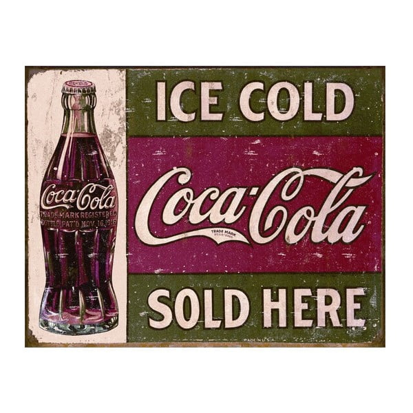 Plechová ceduľa Ice Cold I, 30x40 cm