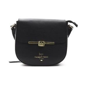 Čierna kožená kabelka f.e.v. by Francesca E. Versace Lasta